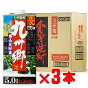 「地域別送料無料」九州郷 麦焼酎 いそのさわ 25度 5000ml 紙パック 3本セット 【RCP】