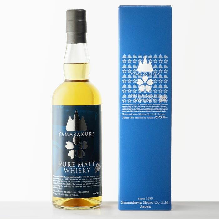 国産ウイスキー山桜ピュアモルトウイスキー笹の川酒造48%700mlRCP