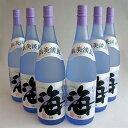 《一部地域送料無料対象外・包装不可》海(うみ umi) 1800mlx6本・大海酒造 芋焼酎 2