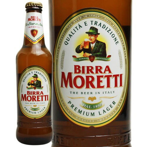 【ポイント2倍】モレッティ ビール 330ml イタリア [N][U]