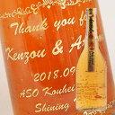 【名入れ彫刻ボトル】贈り物の最高峰彫刻ボトル【梅酒】純金箔入り梅子 720ml(PC書体×彫刻ボトル)
