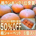 今だけ50%OFF!天然スイーツ「おけさ柿シャーベット」6個...