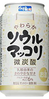 ソウルマッコリ微炭酸 350ml缶1ケース 24...の商品画像