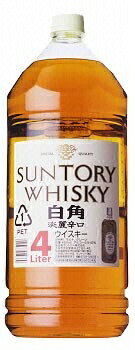 *4 Suntory whiskey white corner 4L pet
