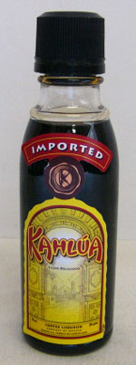 50 ml of Kahlua coffee liqueur miniature 20 degrees