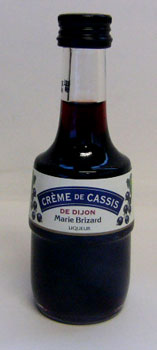 50 ml of Malian yellowtail cassis do Dijon miniatures