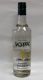 700 ml of vodka Scorpius 37.5 degrees with scorpion