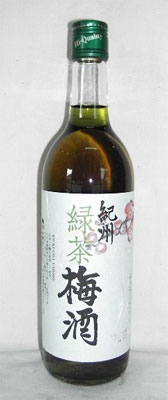 720 ml of Kishu green tea plum liqueur 12 degrees