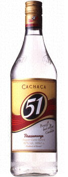 Cachaça 51 40 degrees 1000 ml