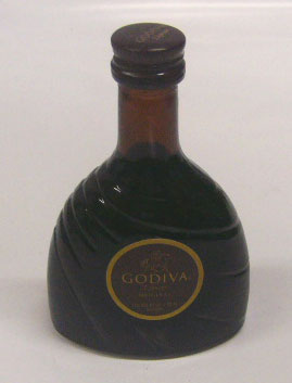 50 ml of Godiva chocolate liqueur miniatures