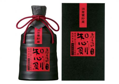 720 ml of full-scale むぎ shochu intellect feeling sword (しらしんけん) cave pot storage ceramics case