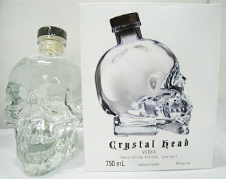 750 ml of crystal head vodka