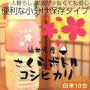 新米 福井県産米 【コシヒカリ】10合 白米 29年産 一人暮らし 計量カップ付 専用ボトル 美味しさキープ お米