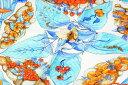 エルメス スカーフ シルク 花柄 ブルー系【美品】【中古】