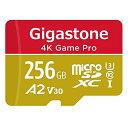 【5年保証 】Gigastone Micro SD Card 256GB A2 V30 マイクロSDカード UHS-I U3 Class 10 100MB/S 高速 micro sd カード Nintendo Swit..