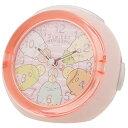 ALIAS すみっコぐらし 目覚まし時計 LEDクロック 4曲メロディアラーム いつものすみっコ ピンク 2925-703