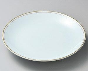 【特別大きい 皿・鉢が 問屋価格で 】渕赤+金線 15号 青白磁大皿 有田焼の おもてなし用の大皿 & 大鉢