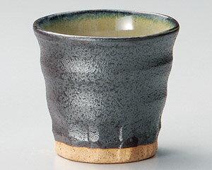 【日本製そば猪口・焼酎カップが問屋価格で】300cc 黒萩焼酎カップ