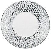 【日本製のプレミアム S スタイル食器が問屋価格で】 特白生地  クールなプラチナ・グレール 27cm サービスプレート & ディナー皿