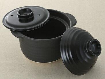 【日本製もっちもち炊飯土鍋の外蓋・中蓋が部品買いできる】外蓋 黒2合もっちもち炊飯土鍋用14.5cm×7.2cm