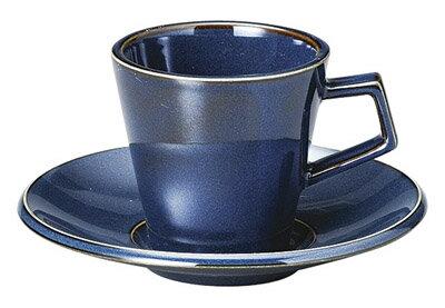スパダ180ccコーヒーカップ&ソーサースカンジナビアンブルー(青)日本製美濃焼厚口の業務用カフェダ