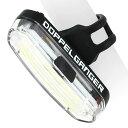 DOPPELGANGER ワイドレンジリアライト DLR356-CL | USB充電式 | 防滴仕様 | 取付可能径22.2-31.8mm | ドッペルギャンガー