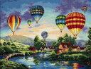 ディメンションズ クロスステッチ 刺繍キット Dimensions Counted Cross Stitch, Balloon Glow バルーングロー・お取寄