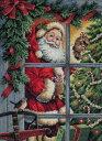 ディメンションズ クロスステッチ 刺繍キット Dimensions Counted Cross Stitch Candy Cane Santa