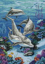 ディメンションズ クロスステッチ 刺繍キット Dimensions Counted Cross Stitch, The Dolphins Domain・お取寄