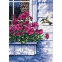 ディメンションズ クロスステッチ 刺繍キット Dimensions Counted Cross Stitch, Flowers & Hummingbird