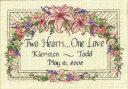 ディメンションズ クロスステッチ 刺繍キット Dimensions Counted Cross Stitch, One Love Wedding Record