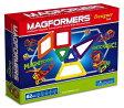 マグフォーマー MAGFORMERS  磁石を使った組み立て遊具 62ピース(三角形 四角形 五角形)レインボーセット 3歳から