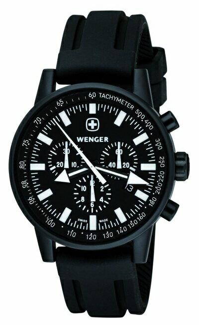 ウェンガーコマンドパタゴニア・エクスペディション・レースクオーツメンズ 70890 Wenger Commando Patagonian Expedition Race Watch 70890 アドベンチャーレースといわれるPER(パタゴニア・エクスペディション・レース)のコレクションです。タキメーター、夜光処理、三つのサブダイヤルが特徴です。