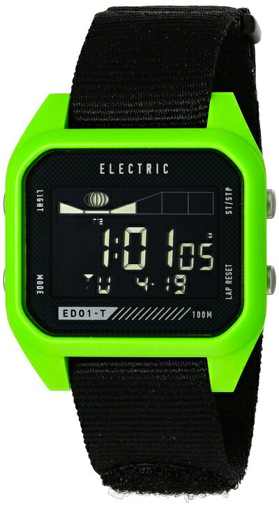 エレクトリックED01-Tナトーファッション(カラー: Black/Green) 腕時計 EW0120000239 Electric ED01 Nato Fashion Watch 薄くて軽量、頑丈なED01-Tは、そのシンプルなタイドグラフで行くべき時を教えてくれる。もう、迷ったまま出かけることはない。