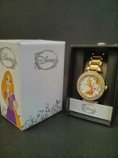 ラウンジフライxディズニーコラボ【塔の上のラプンツェル】ゴールド 腕時計 レディーズウォッチ Disney x Loungefly Rapunzel Tangled Drawing Gold Watch・お取寄