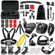 Neewer ニーワー 50-in-1 GoPro互換品 アクセサリーキット 各種マウント/ストラップ/バックル/三脚 Neewer 50-In-1 Sport Accessory Kit for GoPro