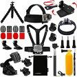 AKASO・GoPro互換品 Luxebell 9-in-1 アクセサリキット 胸部ハーネス、頭部マウント、吸盤マウント、自撮り棒、浮きグリップなど Accerroeirs Kit SP0006