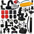 Xtech GoPro互換品 アクセサリーキット アウトドアスポーツ Xtech Complete GOPRO ACCESSORIES Kit for GOPRO
