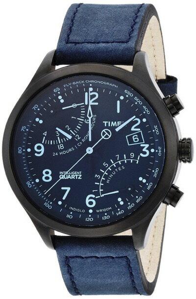 タイメックス TIMEX インテリジェントクォーツ フライバッククロノグラフ ブラック/ブルー T2P512 メンズ 腕時計 タイメックス TIMEX インテリジェントクォーツ フライバッククロノグラフ ブラック/ブルー T2P512 メンズ 腕時計