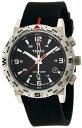 タイメックス TIMEX インテリジェントクォーツ コンパス ブラックダイアル ブラックシリコンストラップ T2P285 メンズ 腕時計