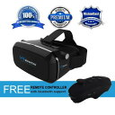 3D VRゴーグル VRヘッドセット 4-6インチ スマホ用 Bluetoothリモコン付 Virtual Reality Headset 360° VR Goggles w/Remote Controlle..