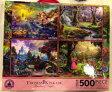 トーマス・ キンケード ディズニー ジグソーパズル 4x500ピース Disney Thomas Kinkade Set of 4 500 Piece Puzzles Puzzle