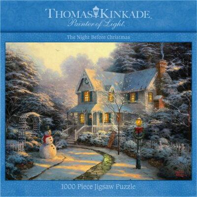 1000ピース ジグソーパズル トーマスキンケード ナイトビフォアクリスマス 1000 Piece Thomas Kinkade-The Night Before Christmas・お取寄