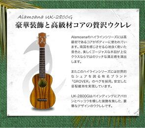 ウクレレAlaMoanaUK-2800Gウクレレ入門セット
