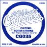 D'Addario エレキギター バラ弦 5本セット CG035 Chromes Flat Wound【daddario ダダリオ エレキ弦 cg-035】【ゆうパケット対応】