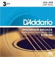 D'Addario ダダリオ アコースティックギター弦 EJ16-3D Light 012-053 [アコギ弦 EJ-16-3D daddario]【ゆうパケット対応】