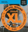 "D'Addario ダダリオ エレキギター弦 EJ20 ""XL Nickel Round Wound"" [daddario エレキ弦 EJ-20]【ゆうパケット..."
