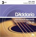 D 039 Addario ダダリオ アコースティックギター弦 EJ26-3D C.Light 011-052【daddario アコギ弦 EJ-26-3D】【ゆうパケット対応】