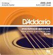 "D'Addario ダダリオ アコースティックギター弦 EJ41(12弦用) ""Phosphor Bronze Round Wound"" [daddario アコギ弦 EJ-41]【ゆうパケット対応】"