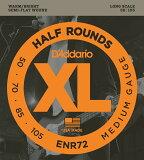 "D'Addario ダダリオ ベース弦 ENR72 ""XL Half Rounds"" [daddario enr-72]【ゆうパケット対応】"